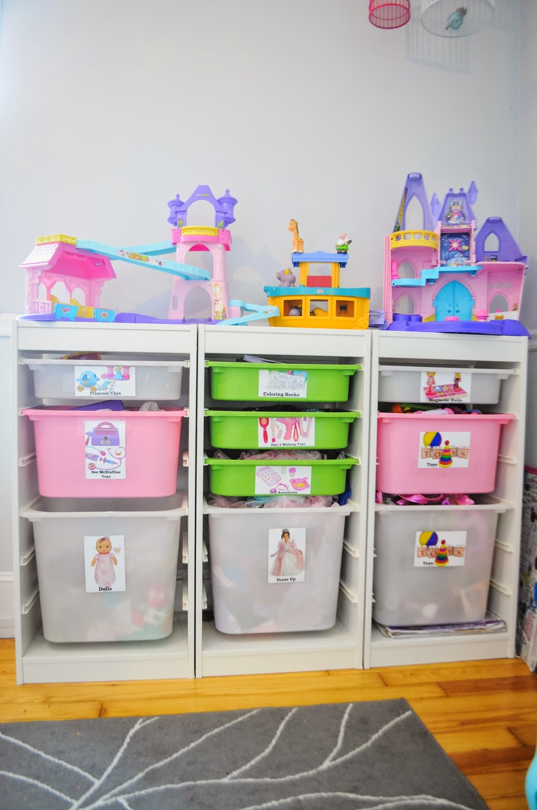 Small Space Toy Storage Solution, Easy DIY Toy Labels, and ...
