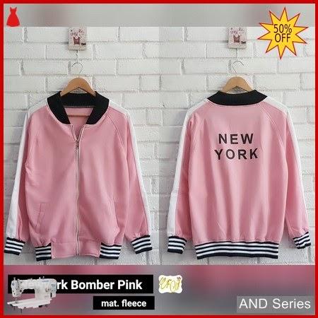 AND393 Jaket Wanita Jaket Newyork Bomber Pink BMGShop