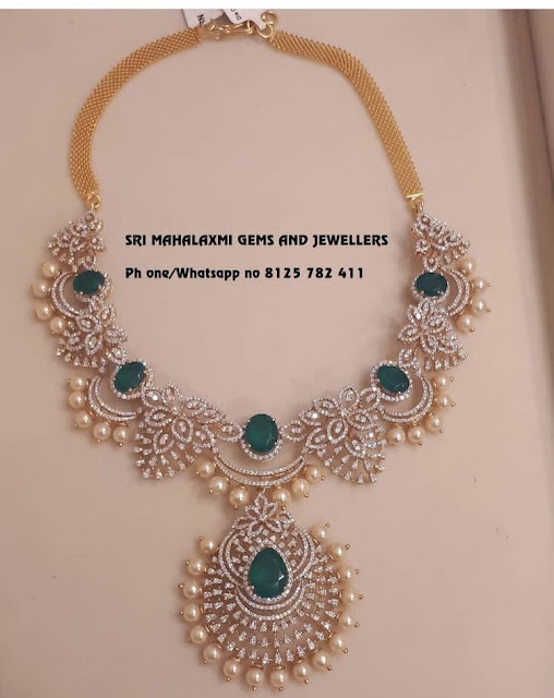 Latest Diamond Set by Sri Mahalaxmi