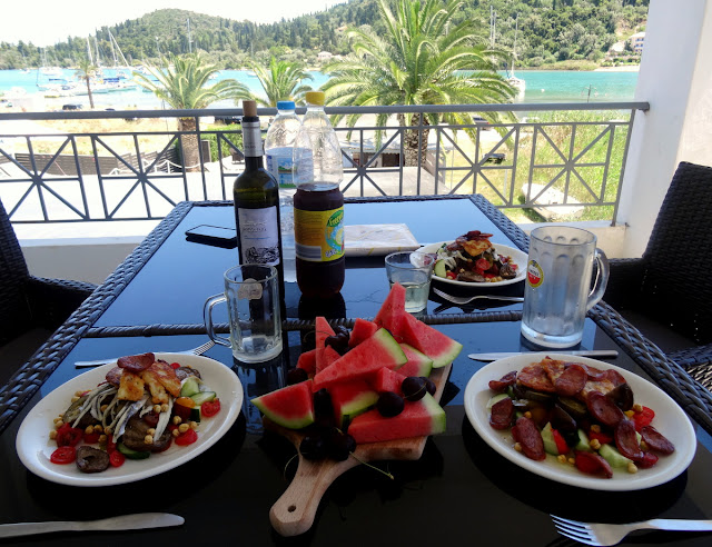 Our Balcony at Armonia Boutique Hotel in Nidri, Lefkada, Greece