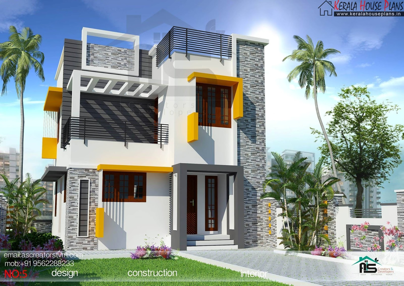 Three bedroom house plan kerala style kerala house plans for Kerala style 2 bedroom house plans
