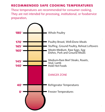 Cook foods to a safe temperature