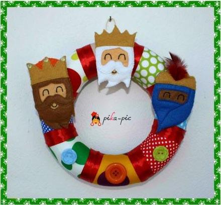 Corona de Navidad para la puerta