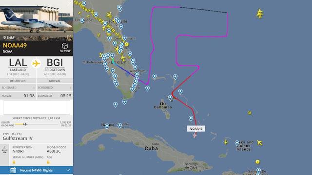 NOAA49 Gulfstream IV - Hurricane hunters