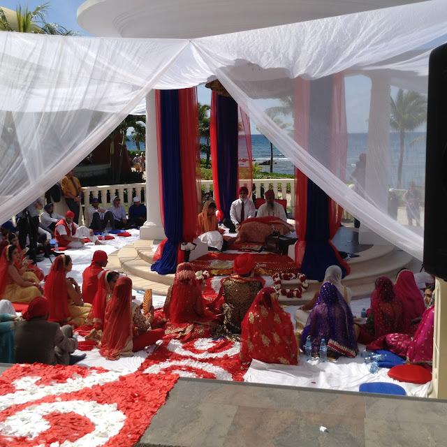 Palace Gazebo Wedding Barceló Riviera Maya  Sikh Wedding