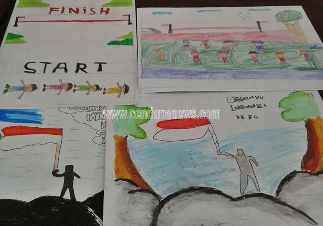 Meriahkan Kemerdekaan Warga Gelar Lomba Menggambar Untuk Anak Cendana News