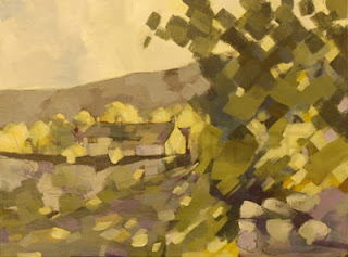 Painting of Littendale Yorkshire by Rob Miller
