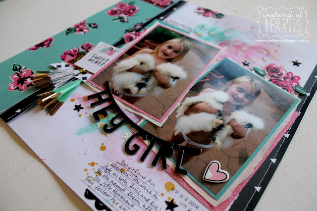 """Hey Girl"" layout by Bernii Miller using Crate Paper Cute Girl collection."