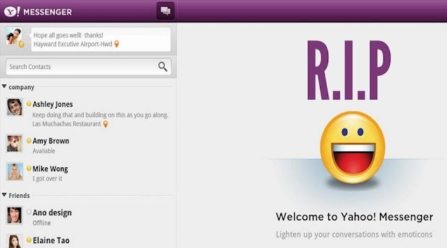 Yahoo messenger to get Permanent Shut Down - Users can download Chat History!