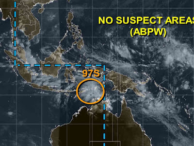 Bibit Badai Siklon Tropis 97S Muncul di Laut Arafura
