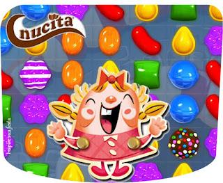 Etiqueta Nucita para Imprimir Gratis de Fiesta de Candy Crush.