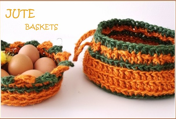 Microcknit Creations Colourful Crochet Baskets