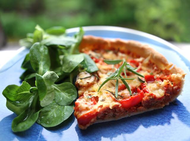 Oppskrift Pizzapai Soyakjøttdeig Kjøttfri Pai Pizza Enkel Vegetar Vegan Middag