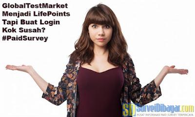 GlobalTestMarket Menjadi LifePoints Tapi Buat Login Kok Susah | SurveiDibayar.com