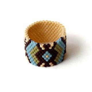 купить красивое кольцо ручной работы изделия из бисера интернет магазин россия