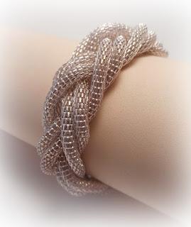 pulsera de cadenas trenzada