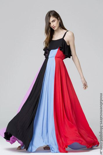 Moda primavera verano 2017 ropa de moda mujer vestidos largos Carmela Achaval. Moda 2017.