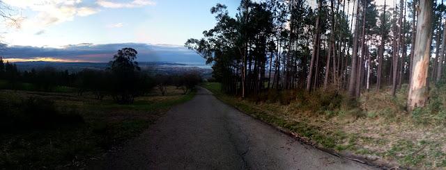 Vista Panorámica desde el pinar de Deva. Sale oscura la original pero si le aumentas el brillo se ve bien