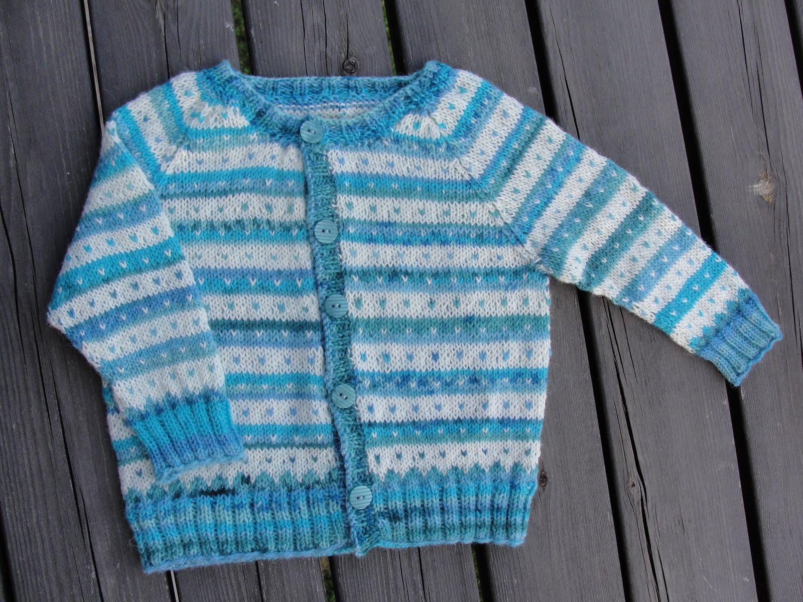 Stickade baby tröjor