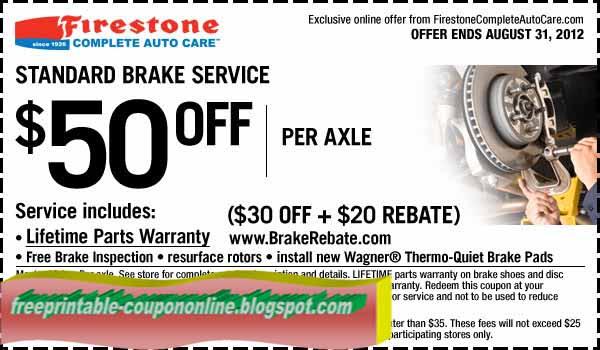 Firestone coupon 2018