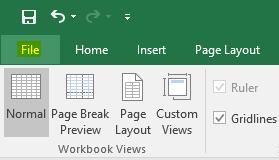 cara menghilangkan menyembunyikan garis putus page break excel