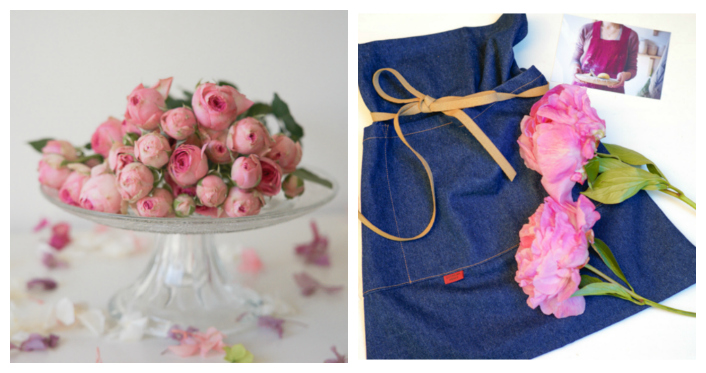 peonías y rosa ingesa