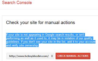 Mengatasi Deindex Google