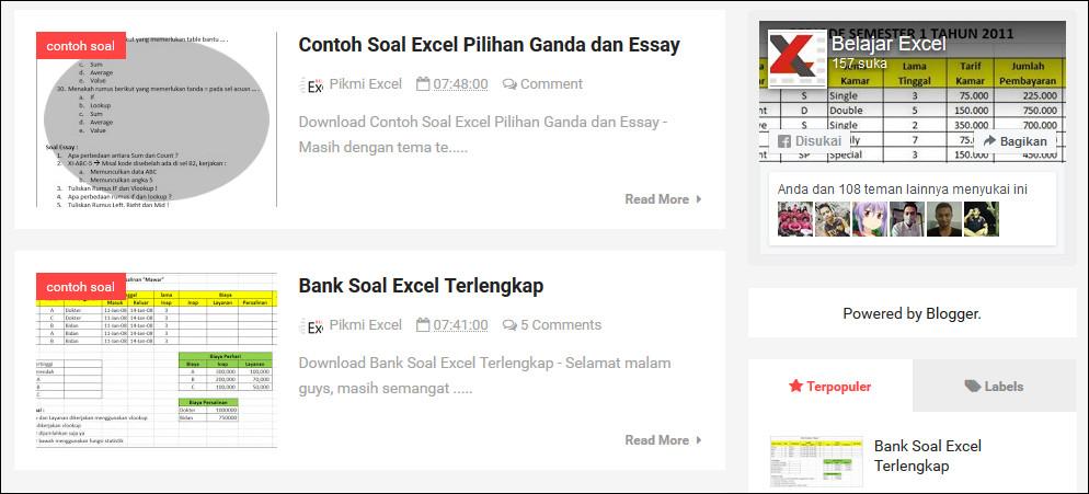 5 Soal Essai Excel Atau Uraian Beserta Jawabannya Belajar Excel