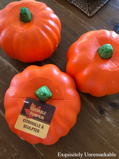 Orange Dollar Store Pumpkin Makeover