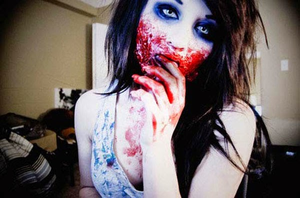 Halloween Scary Blood Face Makeup