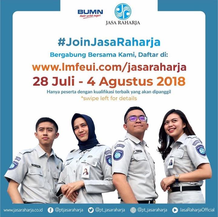 Penerimaan Pegawai PT Jasa Raharja BUMN Juli - Agustus 2018 Secara Online