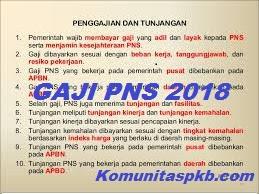 Pembayaran Gaji PNS 2018