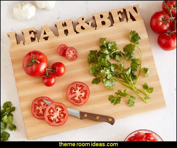 Personalized Cutting Board  kitchen accessories - fun kitchen decor - decorative themed kitchen  - novelty mugs - kitchen wall decals - kitchen wall quotes - cool stuff to buy - kitchen cupboard contact paper -  kitchen storage ideas - unique kitchen gadgets - food pillows