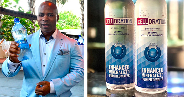 Rudy Byfield, founder of CellDration Water