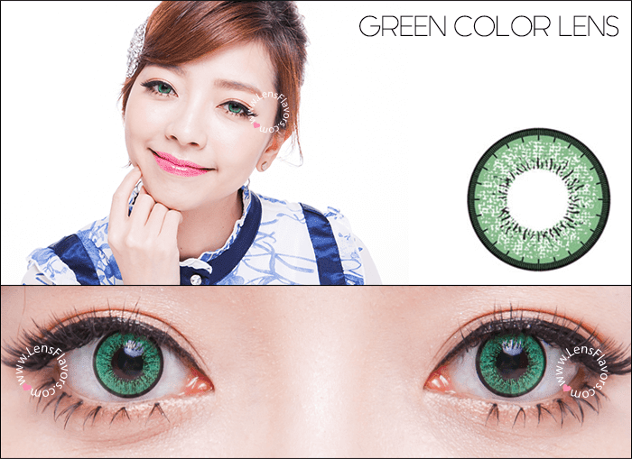 eos new adult green circle lenses
