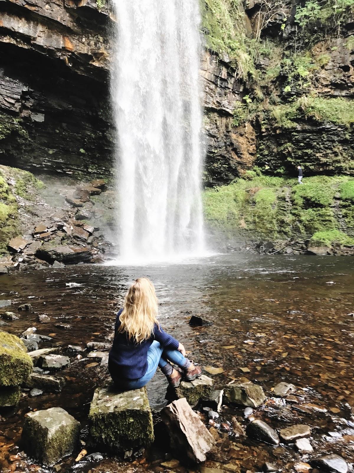 Sgwd Henrhyd Wales, travel blog, lifestyle blog, waterfalls in Wales