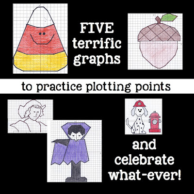 This is a fun activity that includes 5 fall-themed pictures. It will give students practice plotting points on the coordinate plane and what student doesn't need a little point plotting practice??