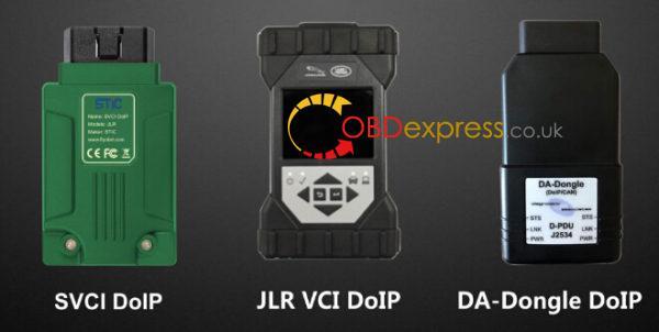 SVCI DOIP vs JLR VCI DOIP vs DA-dongle DOIP:
