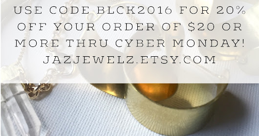 My #BlackFriday, CyberMonday, SmallbusinessSaturday Deal