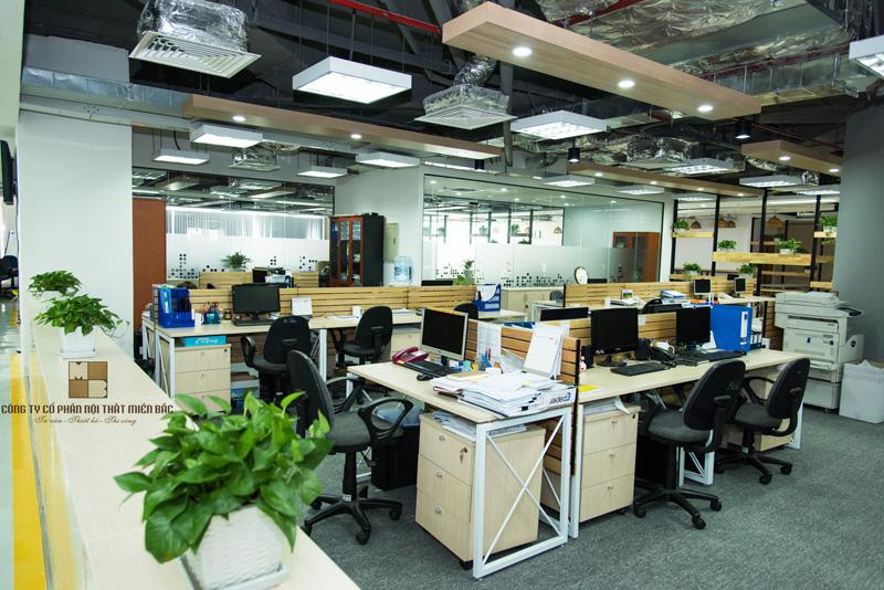 Thiết kế nội thất văn phòng đưa không gian bên ngoài vào