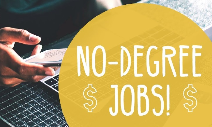 No degree jobs