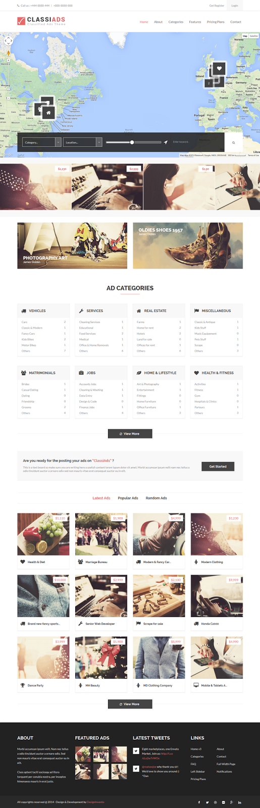 Classified Ads Website Template