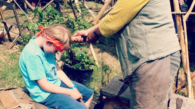 Camp Bestival Spinney Hollow Woodland Workshop Sword Making // 76sunflowers