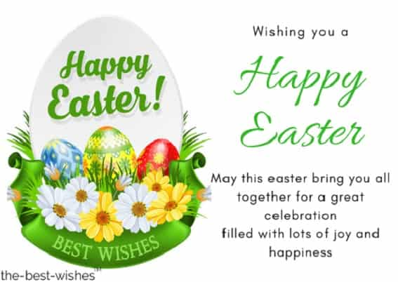 white photo best wishes easter card