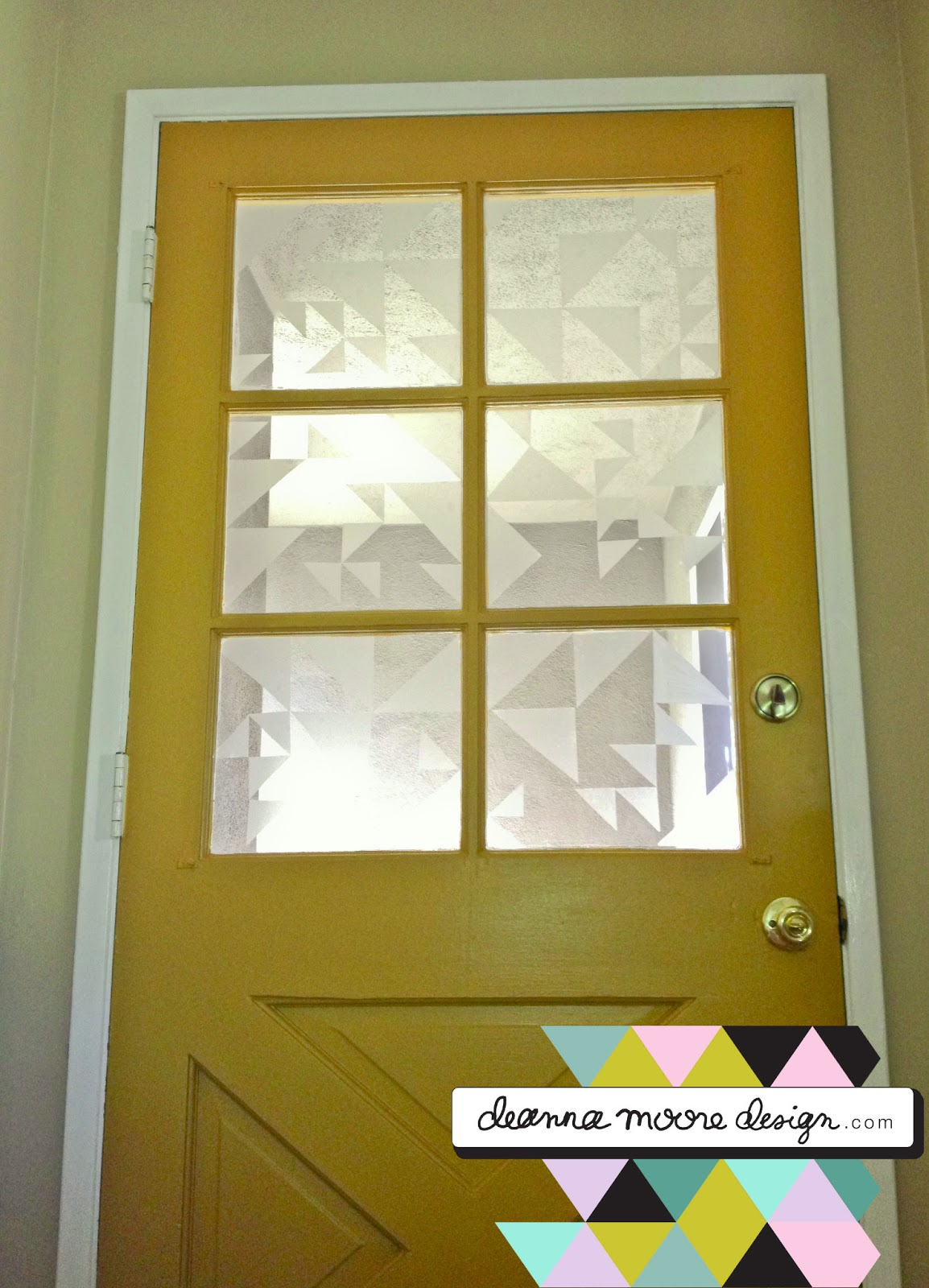 "Deanna Moore Design: Graphic ""faux frosted glass"" >>> with ..."