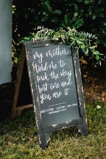 wedding sign prop