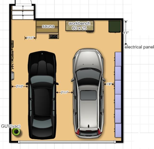 garage, garage cabinets, Ikea Sektion, Ikea, Cottage, Garage Organization, garage plan