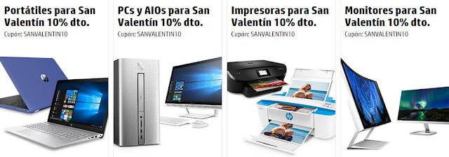 Top 5 ofertas promoción San Valentín de la HP Store