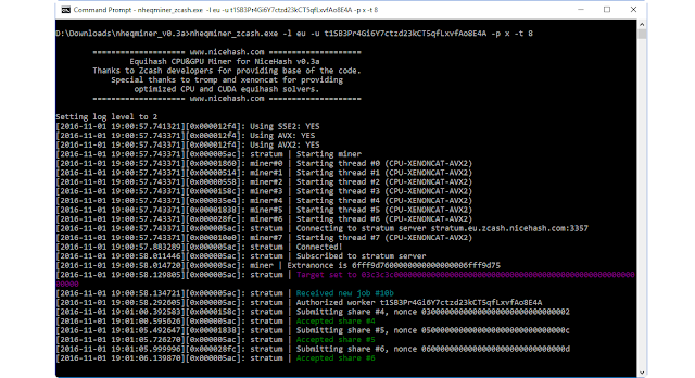 Cara Mudah Menambang Zcash Menggunakan CPU (Windows)