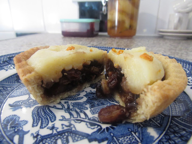 Custard topped Mince Pie